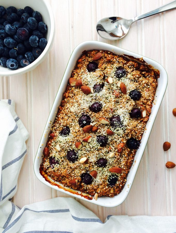 BLUEBERY COCONUT BAKED OATMEAL