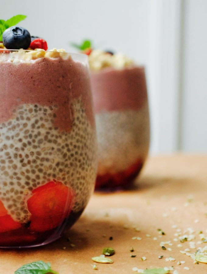 ACAI BLUEBERRY CHIA PUDDING